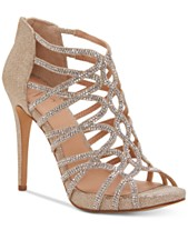 17ba67b43e3 I.N.C. Women s Sharee High Heel Rhinestone Evening Sandals