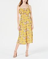 1006a7505 Trixxi Juniors' Floral-Print Ruffle Jumpsuit