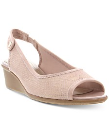 Karen Scott Yameen Peep-Toe Wedges, Created for Macy's