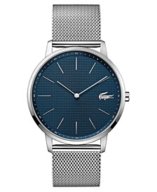 Men's Moon Ultra Slim Stainless Steel Mesh Bracelet Watch 40mm