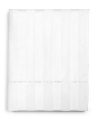 """1.5"""" Stripe Twin Flat Sheet, 550 Thread Count 100% Supima Cotton, Created for Macy's"""