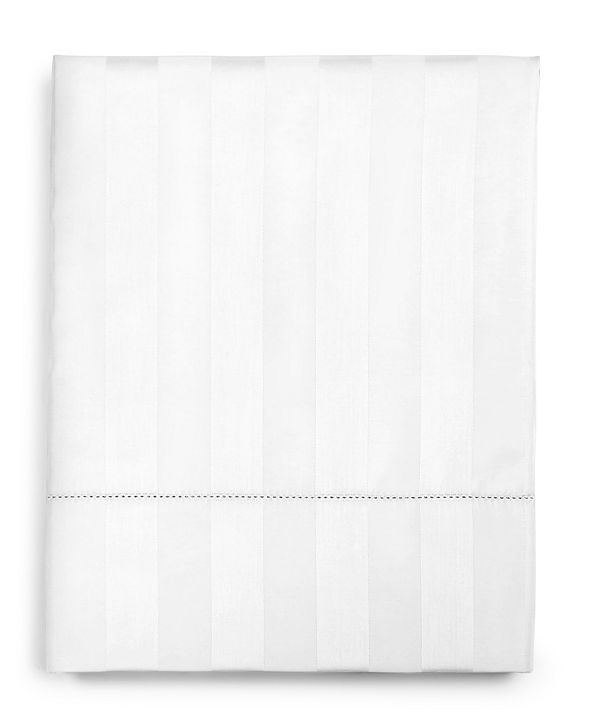 """Charter Club 1.5"""" Stripe Twin Flat Sheet, 550 Thread Count 100% Supima Cotton, Created for Macy's"""