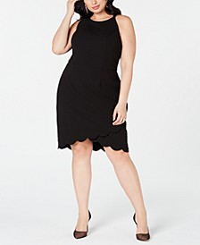 Plus Size Scalloped Sheath Dress