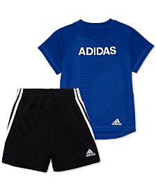 adidas Little Boys 2-Pc. Logo Graphic T-Shirt & Shorts Set