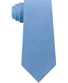 Calvin Klein Men's Slim Solid Silk Tie