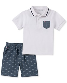 Tommy Hilfiger Baby Boys 2-Pc. Polo Shirt & Printed Shorts Set