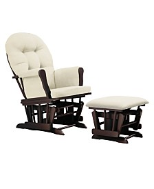 Bentley Glider and Ottoman- Espresso,Beige