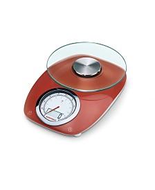 Soehnle Vintage Style Red Digital Kitchen Scale