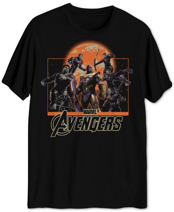 Avengers Group Shot Mens Graphic T-Shirt, Black, Size: M