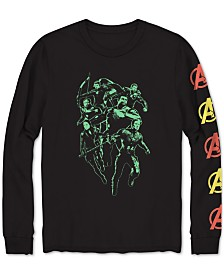 Long-Sleeve Avengers Flame Men's Graphic T-Shirt