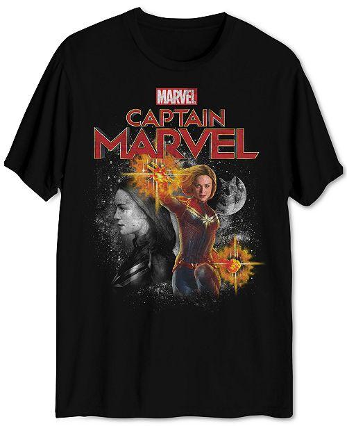 Hybrid Captain Marvel Blast Men's Graphic T-Shirt