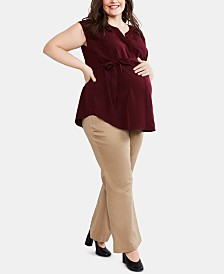Motherhood Maternity Plus Size Bootcut Dress Pants