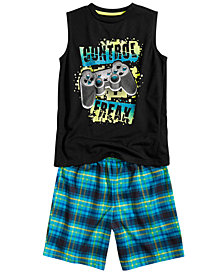 Max & Olivia Little & Big Boys 2-Pc. Control Freak Pajamas Set