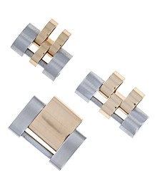 Men's Two-Tone 18K Gold & Stainless Steel Links