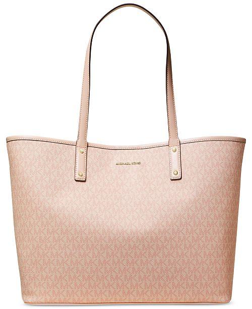 ba0a89e9dcdd Michael Kors Carter Signature Open Tote & Reviews - Handbags ...