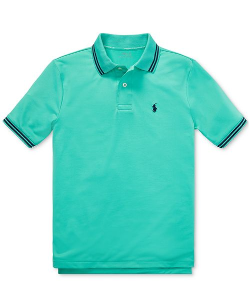 179556b038 Big Boys Performance Lisle Polo Shirt