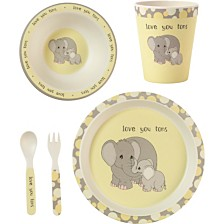 Precious Moments 5-Piece Elephant Mealtime Gift Set