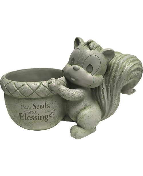 Precious Moments Plant Seeds Grow Blessings Squirrel Resin 6-inch Diameter Planter  183425