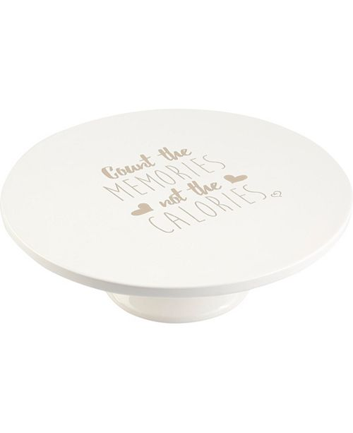 Precious Moments Count The Memories Not The Calories Ceramic Pedestal Cake Stand 183437