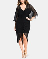 aeb640ae925 City Chic Trendy Plus Size Drawn Up Ruched Dress