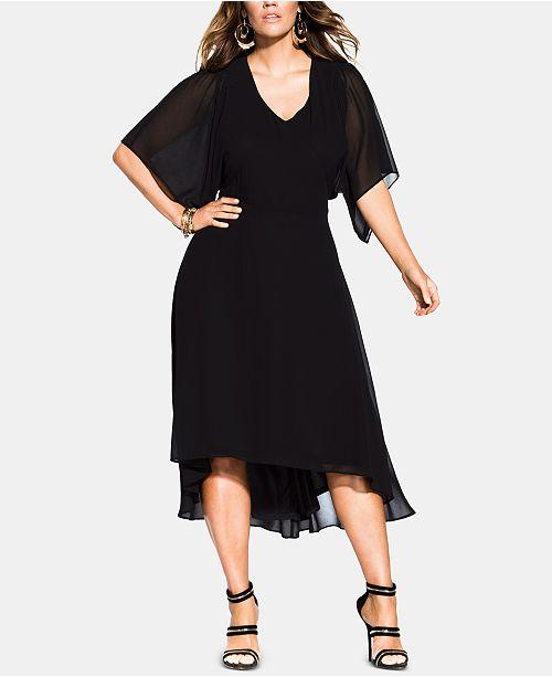Trendy Plus Size Adore Batwing Dress