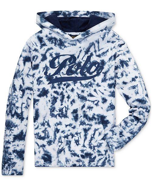 0b4ab93e ... Polo Ralph Lauren Big Boys Tie-Dye Cotton Jersey Hooded T-Shirt ...