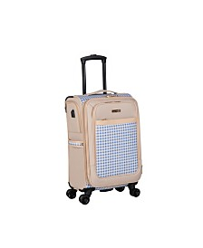 "Isaac Mizrahi Greenwich 20"" 8-Wheel Spinner Luggage"