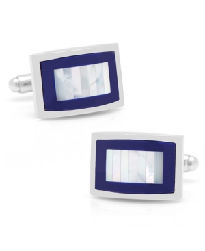 Mother of Pearl and Lapis Key Cuff Links