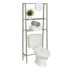 Over-The-Toilet Steel Space Saver Shelving Unit with Baskets