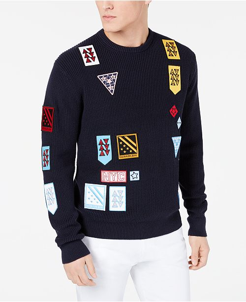 Calvin Klein Jeans Men's Patch Sweater
