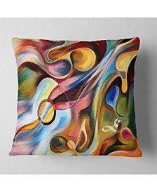 """Designart 'Music Beyond The Frames' Music Throw Pillow - 16"""" x 16"""""""