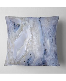 """Designart 'Agate Stone Background' Abstract Throw Pillow - 26"""" x 26"""""""