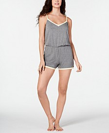 Ultra Soft Contrast-Trim Pajama Romper, Created for Macy's