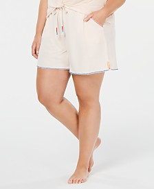 Jenni Plus Size Drawstring Pajama Shorts, Created for Macy's