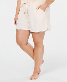 Jenni Plus Size Drawstring Pajama Shorts, Created for Macy's