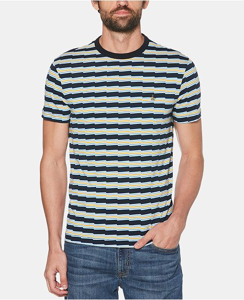Original Penguin Men's Zig-Zag Stripe T-Shirt