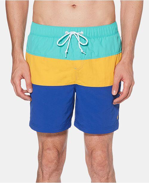 "Original Penguin Men's 6"" Colorblocked Swim Trunks"