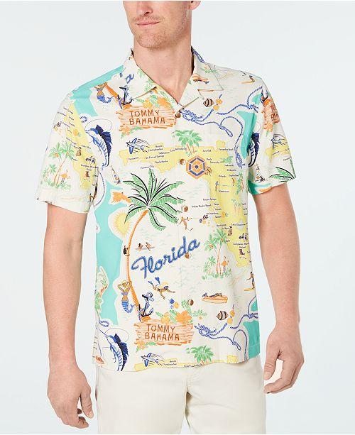 ae41b0e16 ... Tommy Bahama Men's Meet Me In Miami Tropical-Print Silk Camp Shirt ...