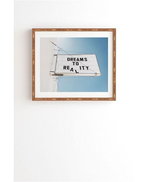 Deny Designs Dreams to Reality Framed Wall Art