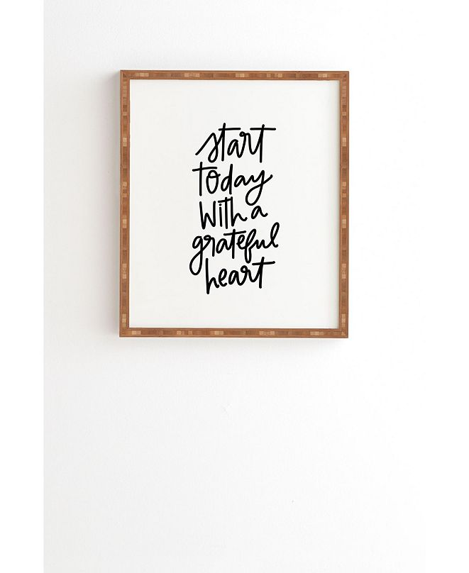 Deny Designs A Grateful Heart Framed Wall Art