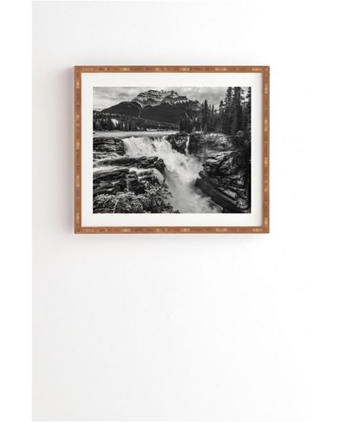 Deny Designs Athabasca Falls Mountain View Framed Wall Art