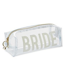 "Tri-Coastal Design ""BRIDE"" Clear Rectangular Cosmetic Bag"