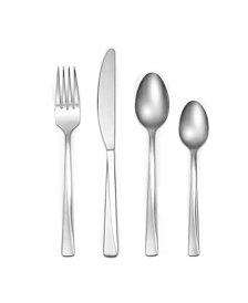 Cambridge Dora Sand 16-Piece Flatware Set with Caddy, Service for 4