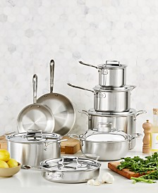 All-Clad D5 Brushed Stainless Steel 14-Pc. Cookware Set