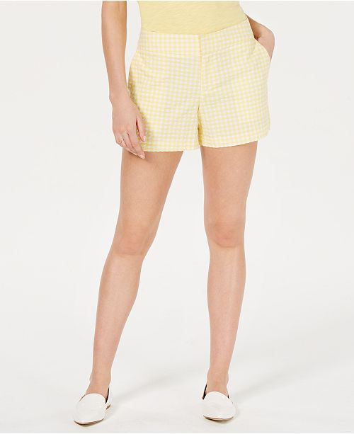 Maison Jules Gingham Shorts, Created for Macy's