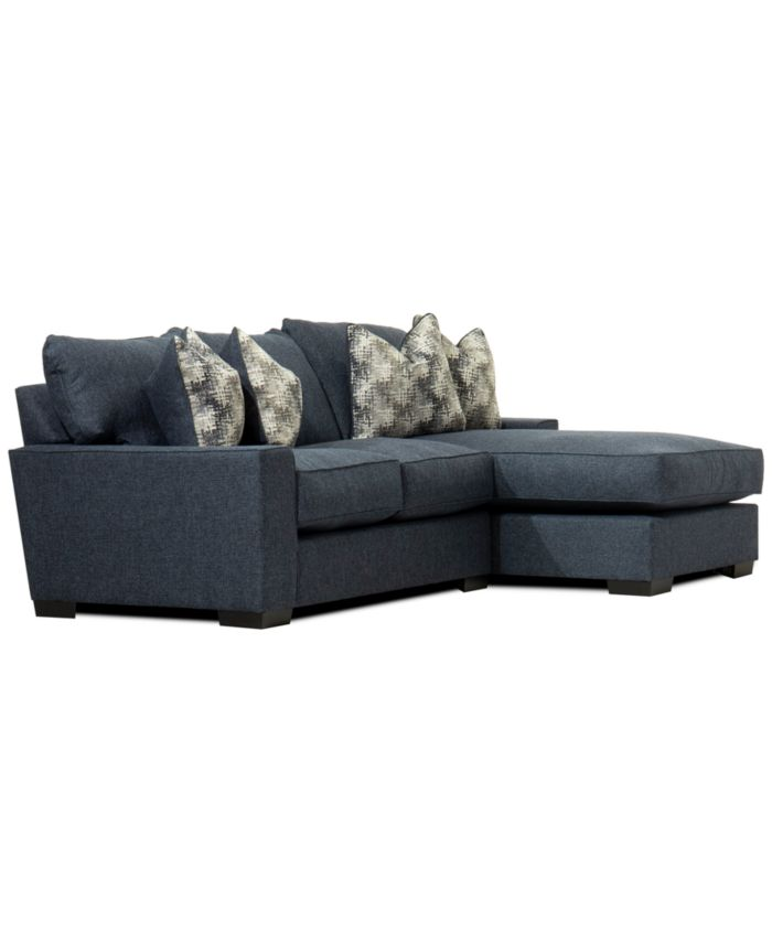 Furniture CLOSEOUT! Tuni 2-Pc. Fabric Chaise Sectional Sofa, Created for Macy's & Reviews - Furniture - Macy's