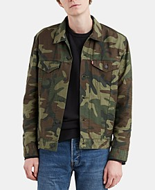 Men's Denim Camo Trucker Jacket