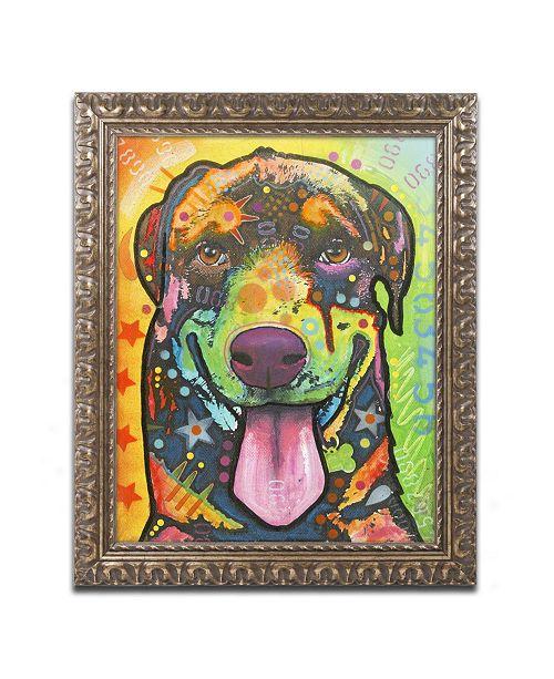 "Trademark Global Dean Russo 'Rottie Pup' Ornate Framed Art - 14"" x 11"" x 0.5"""