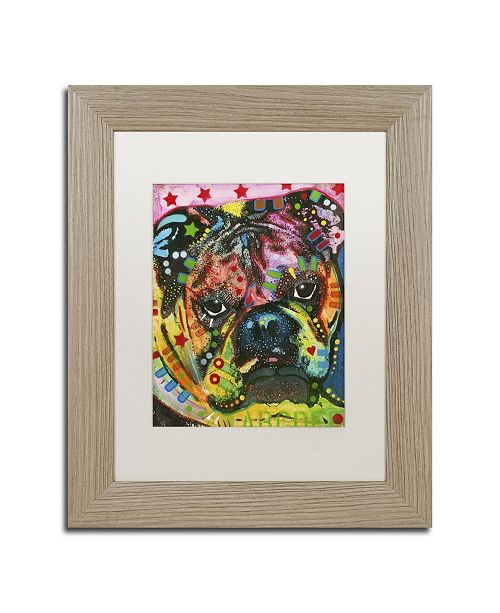 "Trademark Global Dean Russo 'Determined' Matted Framed Art - 14"" x 11"" x 0.5"""