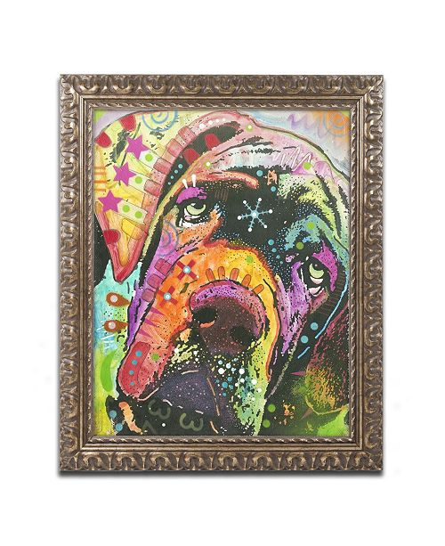 """Trademark Global Dean Russo 'Old Droopyface' Ornate Framed Art - 14"""" x 11"""" x 0.5"""""""